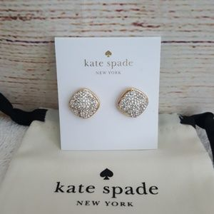 New kate spade Square Pave Stud Earrings
